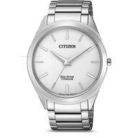 Citizen super titanium bj6520-82a orologio uomo eco drive solo tempo