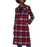 find. city coat giubbotto, multicolore (red/navy tartan), 40 (taglia produttore: x-small)