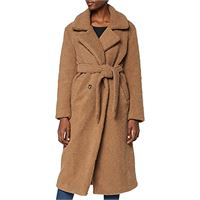 find. longline teddy coat giacca, marrone brown, 52 (taglia produttore: xxx-large)