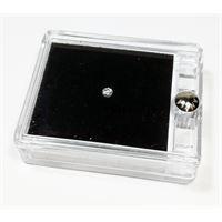 Notini diamante naturale sigillato in blister con prestigiosa confezione in pelle - ct. 0. 10 f vsi brillante
