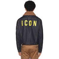 DSQUARED2 giacca icon in denim di cotone patchwork