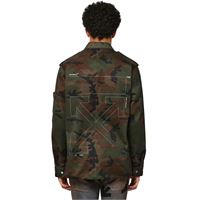 OFF-WHITE giacca military in cotone camouflage
