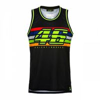 VR46 canotta VR46 46 stripes nero
