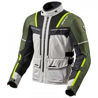 Rev'it - giacca moto rev\'it offtrack argento verde