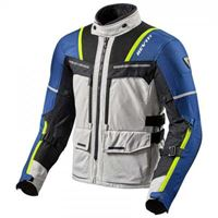 Rev'it - giacca moto revit offtrack argento blu
