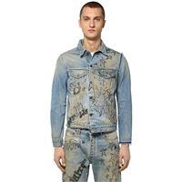 OFF-WHITE giacca slim fit in denim di cotone