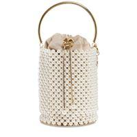 ROSANTICA borsa a secchiello febe con perle d'imitazione
