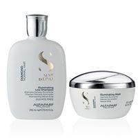 Kit alfaparf - semi di lino diamond shampoo e mask