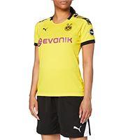 PUMA maglia ufficiale stagione 19/20 borussia dortmund da donna home replica con evonik opel logo, calcio, giallo (cyber yellow/black), xs