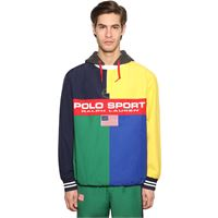 POLO RALPH LAUREN giacca rugby mash up in nylon di cotone