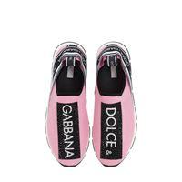 DOLCE & GABBANA sneakers in neoprene con cristalli
