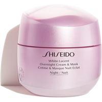 Shiseido white lucent overnight cream & mask maschera e crema notte idratante contro le macchie della pelle 75 ml