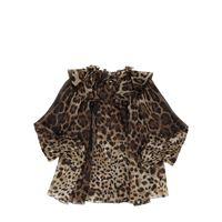 DOLCE & GABBANA camicia in organza di seta leopard