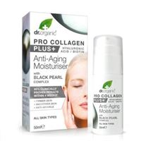 Dr. organic crema pro collagen plus con complesso di perla nera 50 ml