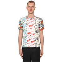 COMME DES GARÇONS SHIRT t-shirt in jersey di cotone patchwork