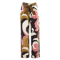 ALYSI abbigliamento donna pantaloni cotone rosa multicolor ALYSI