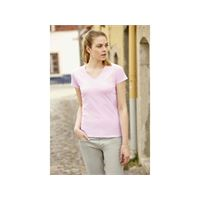 Fruit of the Loom t-shirt donna lady-fit valueweight con scollo a v fruit of the loom
