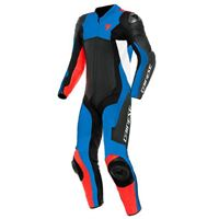 Dainese assen 2 perforated leather 46 black / light blue / fluo red