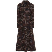 Miu Miu cappotto a stampa camouflage in lana