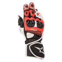 Alpinestars guanti moto pelle racing Alpinestars gp plus r v2 nero bianco rosso