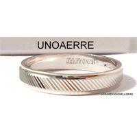 UNOAERRE anello fedina UNOAERRE in argento fascia lucida centrale