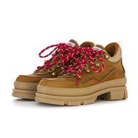STOKTON scarpe donna stivali trekking pelle nabuk marrone cuoio STOKTON