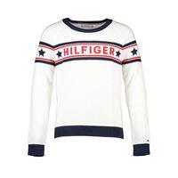 TOMMY HILFIGER maglione giro logo star bambina