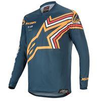 Alpinestars maglia cross Alpinestars racer braap blu navy arancio