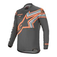 Alpinestars maglia cross Alpinestars racer braap grigio arancio fluo