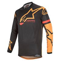 Alpinestars maglia cross Alpinestars racer tech compass nero arancio