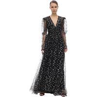 SANDRA MANSOUR vestito in tulle con glitter