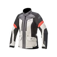 Alpinestars giacca stella valparaiso v3 drystar grigio rosso
