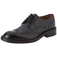 Lottusse l6724, scarpe stringate brouge uomo, nero (jocker pelar negro), 39 eu