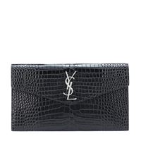Saint Laurent clutch uptown in pelle stampata