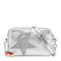 Golden Goose borsa star in pelle metallizzata con cristalli