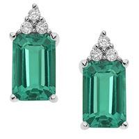 Comete orecchini comete gioielli storia di luce in oro 18kt, diamanti e smeraldi orb909