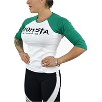 MONSTA CLOTHING CO womens - 3/4 sleeve - signature colore: bianco / verde