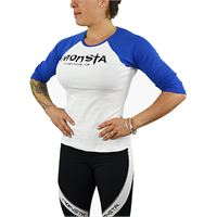 MONSTA CLOTHING CO womens - 3/4 sleeve - signature colore: bianco / blu