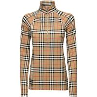 BURBERRY top vilan in lycra check