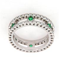 Crivelli anello girodito smeraldo diamanti crivelli
