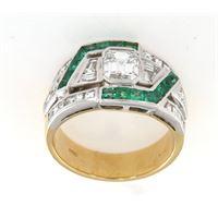 Crivelli anello fascia smeraldo diamanti crivelli
