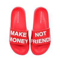 MAKE MONEY NOT FRIENDS sandali con logo