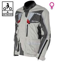 BEFAST giacca moto donna touring befast touring tech lady ce certificata 3 strati nero grigio