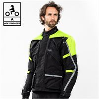 BEFAST giacca moto touring befast touring tech ce certificata 3 strati nero giallo