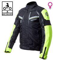 BEFAST giacca moto donna touring befast transformer lady ce certificata 3 strati nero giallo
