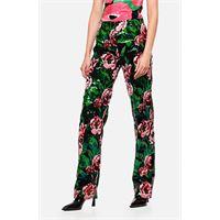 Richard Quinn pantaloni con paillettes rosa