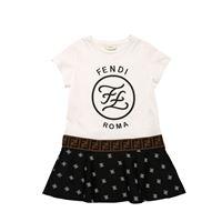 FENDI vestito in jersey di cotone e lycra