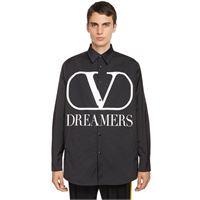 VALENTINO giacca vlogo dreamers in popeline di cotone