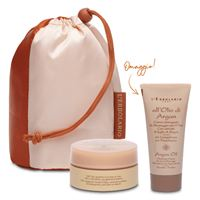 L'erbolario beauty olio di argan crema viso 50 g + crema detergente 50 g edizione limitata