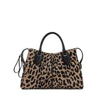TOD'S borsa any in cavallino leopard
